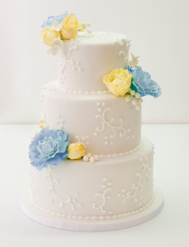 Pastel boda blue+yellow