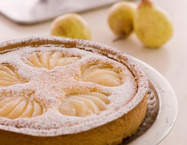 tarta pera y almendra